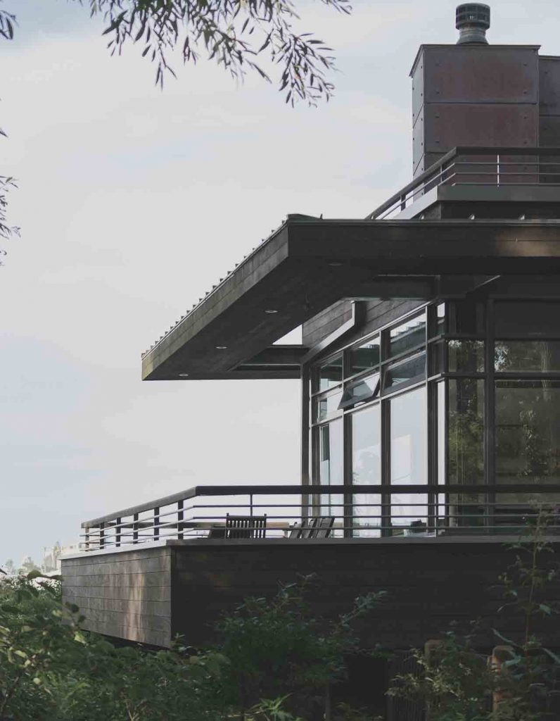 terraza cerrada con cristales